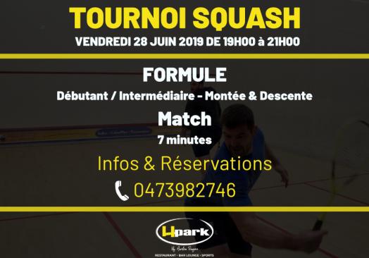 Tournoi de Squash // Débutant / Intermédiaire