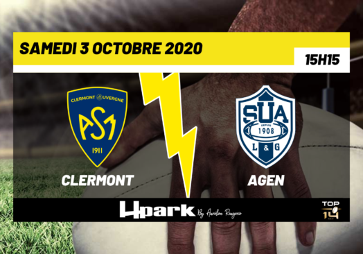 TOP 14 – Clermont // Agen